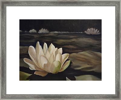 White Beauty Framed Print by Laurine Baumgart