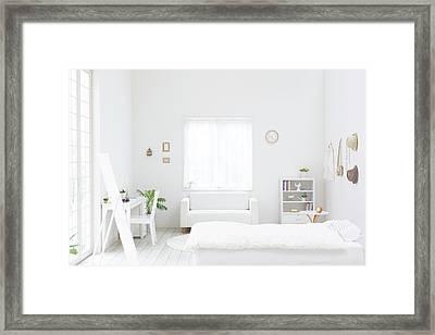 White Bedroom Framed Print by Bloom Image