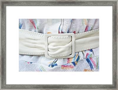 White Belt Framed Print by Tom Gowanlock