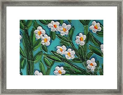 White Blooms 2 Framed Print