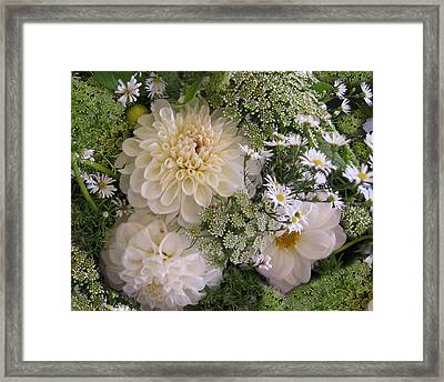 Framed Print featuring the photograph White Bouquet by Geraldine Alexander