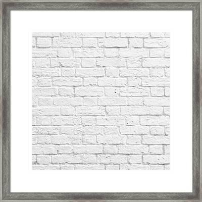 White Brick Wall Framed Print
