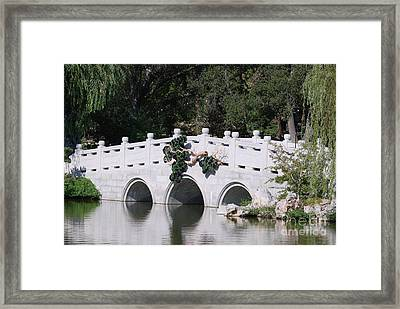 Framed Print featuring the photograph White Bridge by George Mount