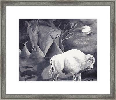 White Buffalo Framed Print by Molly Williams