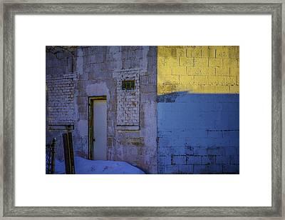White Building Framed Print by Raymond Kunst