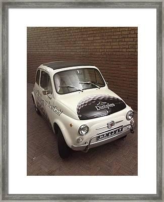 White Car Framed Print by Ben Ong