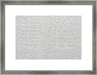 White Carpet Framed Print