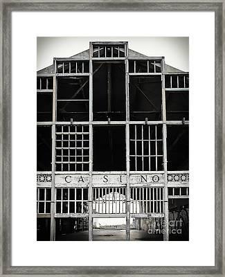 White Casino Framed Print