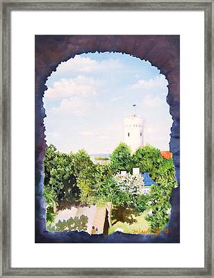 White Castle In Tallinn Estonia Framed Print