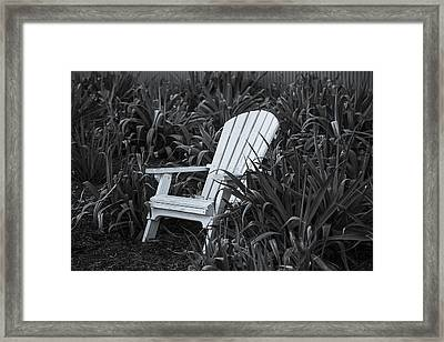 White Chair Framed Print by Garry Gay