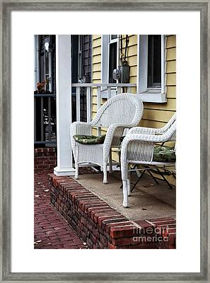 White Chairs  Framed Print by John Rizzuto