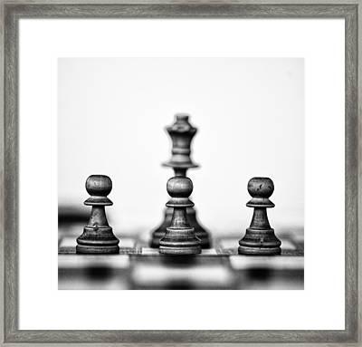 White Chess Pieces Framed Print by Arisha Singh
