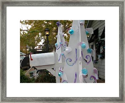 White Christmas Framed Print by Audreen Gieger-Hawkins