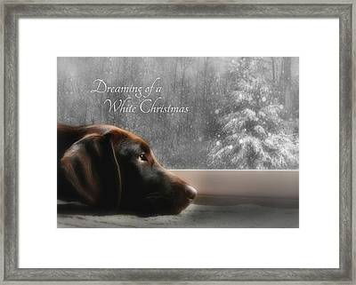 White Christmas Framed Print by Lori Deiter