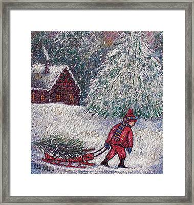 White Christmas Framed Print by Natalie Holland