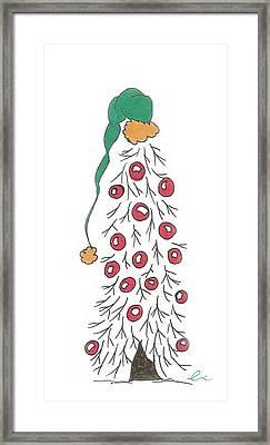 White Christmas Tree 2 Framed Print