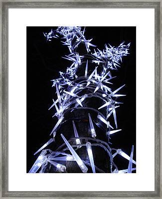 White Christmas Tree Framed Print by Michel Mata