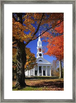 White Church Framed Print