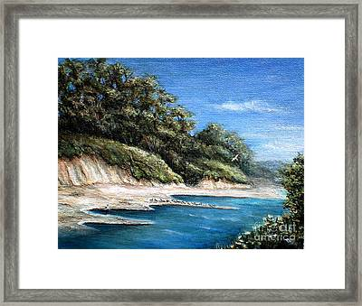 White Cliffs Framed Print by Danuta Bennett