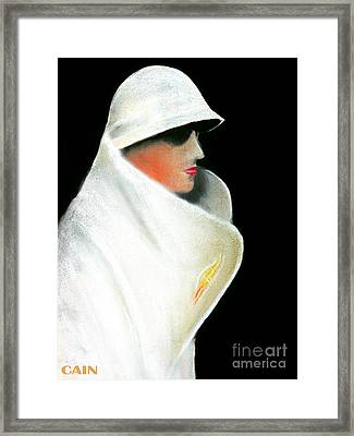 White Coat And Hat Framed Print