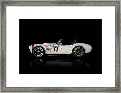Framed Print featuring the digital art White Cobra by Douglas Pittman