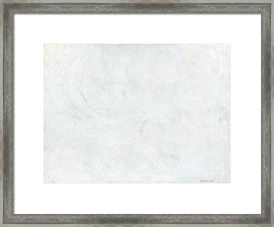 White Color Of Energy Framed Print by Ania Milo