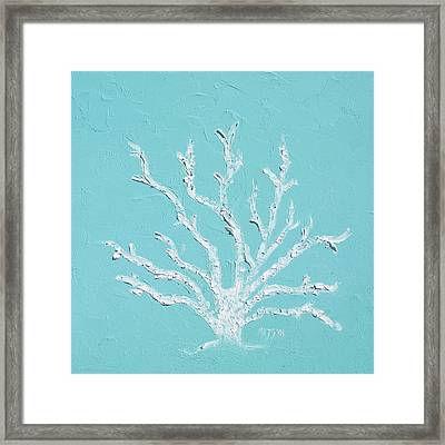 White Coral Framed Print