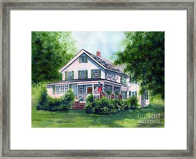 White Country Farmhouse Framed Print