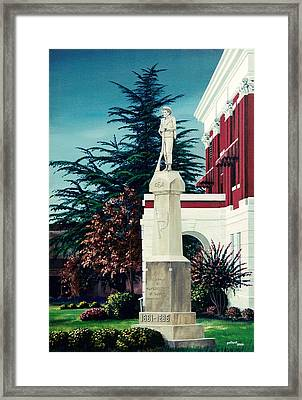 White County Courthouse - Civil War Memorial Framed Print