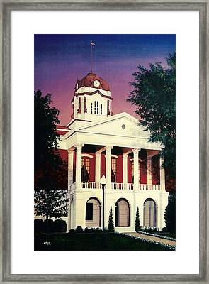 White County Courthouse Framed Print