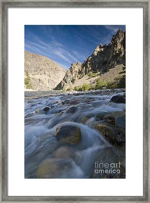 White Creek And Middle Fork Salmon River Framed Print