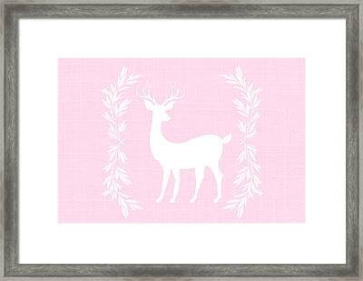 White Deer Framed Print by Chastity Hoff
