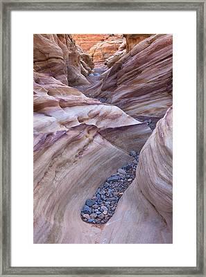 White Domes Slot Canyon - Vertical Framed Print