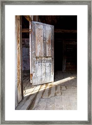 White Door Framed Print by Fran Riley