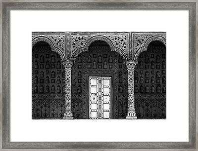 White Door Framed Print