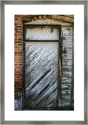 White Door Framed Print by Steven  Taylor