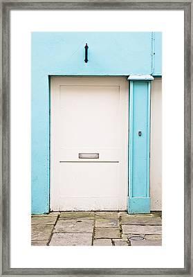 White Door Framed Print by Tom Gowanlock