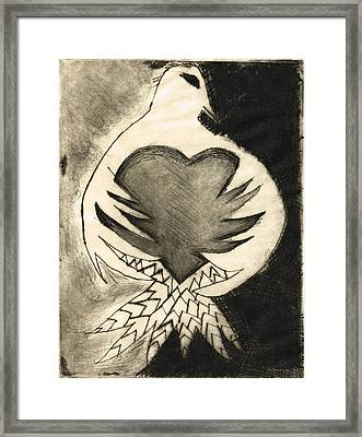 White Dove Art - Comfort - By Sharon Cummings Framed Print