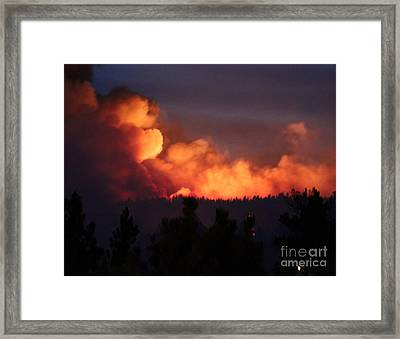 Framed Print featuring the photograph White Draw Fire First Night by Bill Gabbert