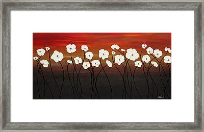 White Dreams Framed Print by Carmen Guedez