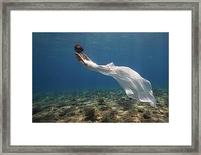 White Dress Framed Print