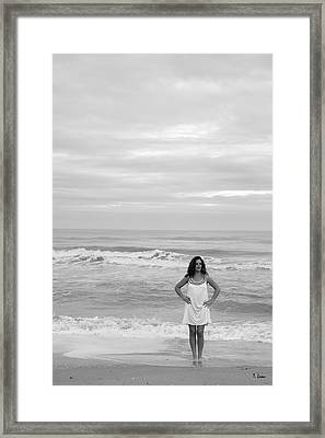 White Dress Framed Print by Thomas Leon