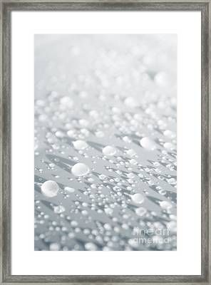 White Droplets Framed Print by Carlos Caetano