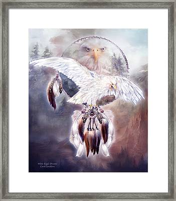 White Eagle Dreams 2 Framed Print by Carol Cavalaris