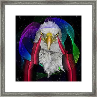 white Eagle face Framed Print