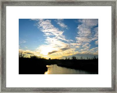 White Earth River Framed Print by Brian Sereda