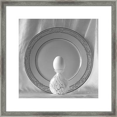 White Easter Egg Framed Print