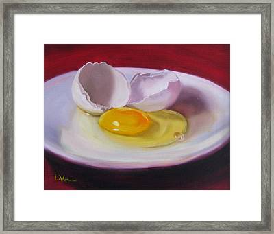White Egg Study Framed Print