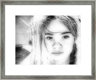 White Face Framed Print