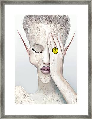 White Face Framed Print